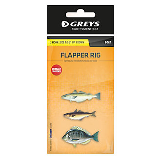 Greys® (Boat) 2 Hook Flapper Rig (1UP1D)
